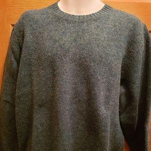 LL Bean Shetland Wool Sweater - Size M